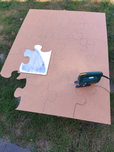 Recke Puzzle entsteht