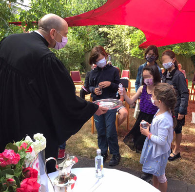 Taufe im Garten 1