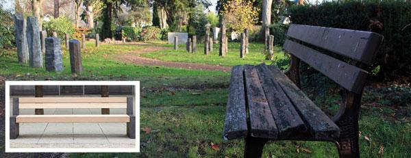 Alte und neue Sitzbank