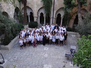 Kantorei im Kreuzgang der Erlöserkirche Jerusalem