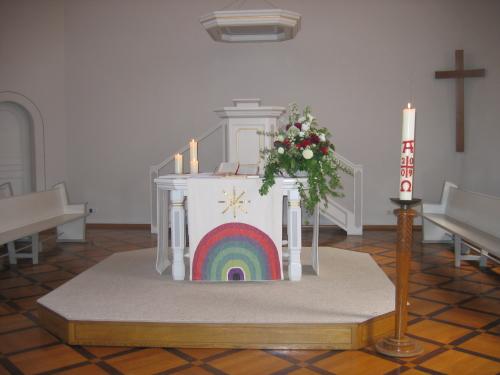 Blick auf den Altarraum der Stadtkirche